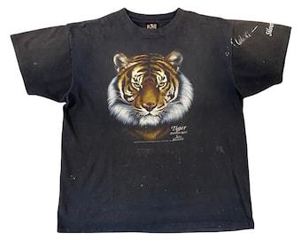 1992 3D Emblem Tiger Panthera Tigris Silver Springs Truck Stop Shirt (XL)