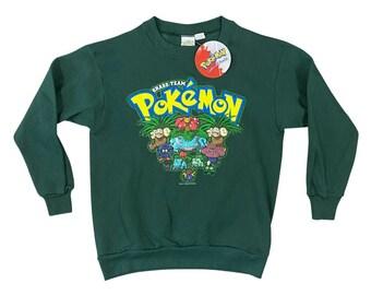 NWT 1999 Pokemon Grass Team Nintendo Kids Sweatshirt (M)