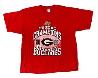 2002 Georgia Bulldogs UGA SEC Champions T-Shirt (2XL)