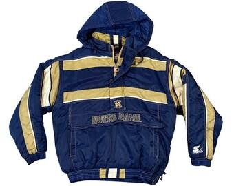 Vintage Notre Dame Fighting Irish Starter Hooded Parka Jacket (L)