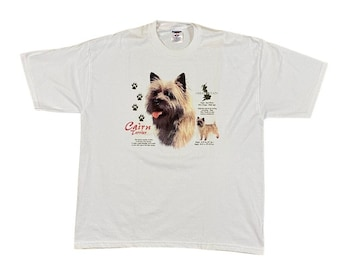 90s Cairn Terrier Dog Breed T-Shirt (XL)