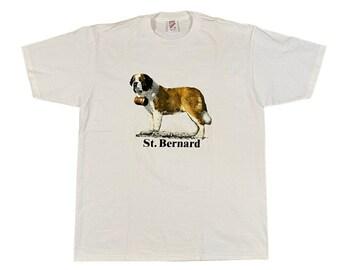 90s St. Bernard Dog Breed T-Shirt (XL)