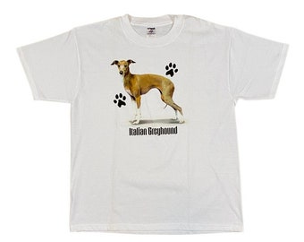 90s Italian Greyhound Dog Breed T-Shirt (L)
