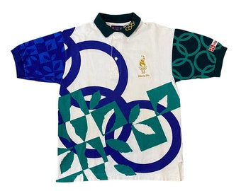 1996 Atlanta Olympic Games Volunteer Logo Polo Shirt (S)