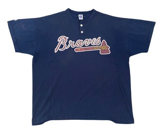 90's Atlanta Braves Russell Athletic Little League Jersey (XL)