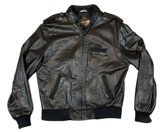 Vintage Leather Members Only by Europe Craft Cafe Racer Jacket (46)