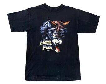 "1999 Harley Davidson ""Leader of the Pack"" Lone Wolf Sturgis Bike Rally Shirt (M)"