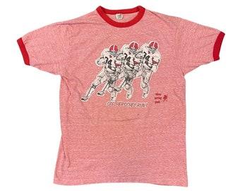 """1980s Georgia Bulldogs UGA Herschel Walker """"See Herschel Run"""" Ringer T-Shirt (M)"""