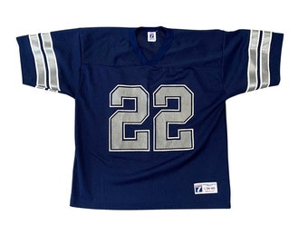 1990s Dallas Cowboys Emmitt Smith #22 Logo 7 Jersey (L)