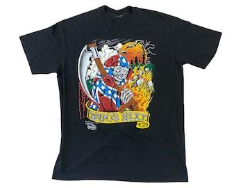 "1990 J.D. Crowe Official Tattoo Brand ""Who's Next"" Grim Reaper T-Shirt (M/L)"