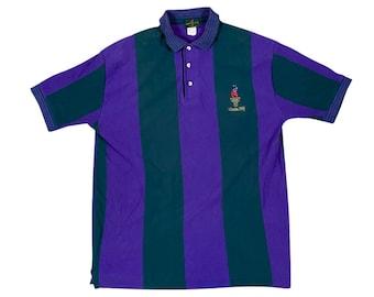 1996 Atlanta Olympic Games Striped Logo Polo Shirt (L)