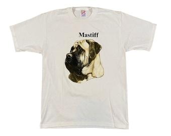 90s Mastiff Dog Breed T-Shirt (M)