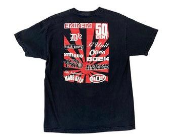 Anger Management European Tour 3  - Eminem 50 Cent Promo Rap Tee Shirt (L)