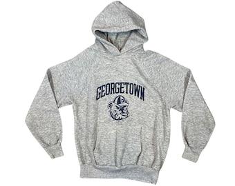 1980s Georgetown University Hoyas Raglan Hooded Sweatshirt (M)