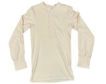 1973 Vietnam Era Men's Winter Lightweight Henley Undershirt Type I Class I (S)