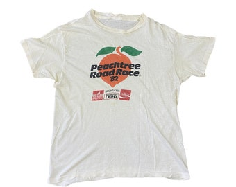 1982 Atlanta Peachtree Road Race 10K ATL Runner T-Shirt (L/XL)
