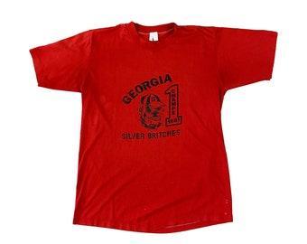 1981 Georgia Bulldogs National Champs UGA Silver Britches T-Shirt (M)