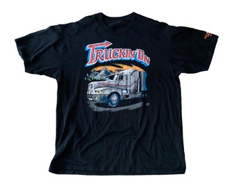 "1991 ""Truckin' On"" Truckin One Big Rig Truck Stop Shirt (XL)"