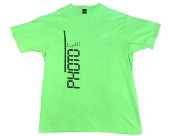 1990s Karl Lagerfeld Photo Neon Green T-Shirt (XL)