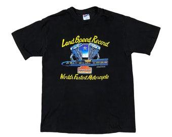 1994 Easyriders Land Speed Record Streamliner Harley Davidson Motorcycle T-Shirt (L)