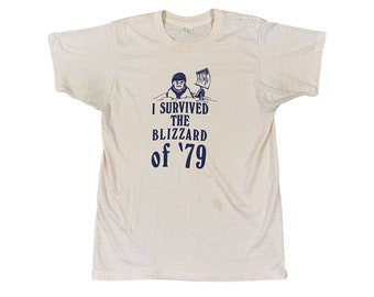 1979 I Survived The Blizzard of 79 T-shirt (M)