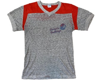1970s Georgia Bulldogs UGA Champion Blue Bar Paper-Thin T-Shirt (S)