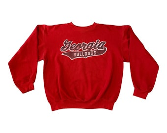 Early 80s Georgia Bulldogs Spell-out Sweatshirt (L)