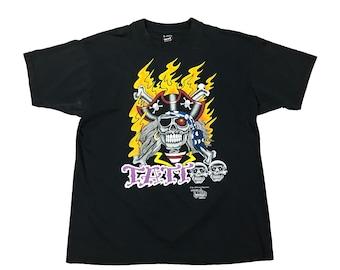 1990s Pirate Skull Capital Tattoo J.D. Crowe Official Tattoo Brand T-Shirt (XL)