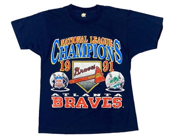 1991 Atlanta Braves NL Champs Single Stitch T-shirt (M)