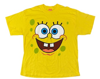Sponge Bob Square Pants Full Face T-Shirt (XL)