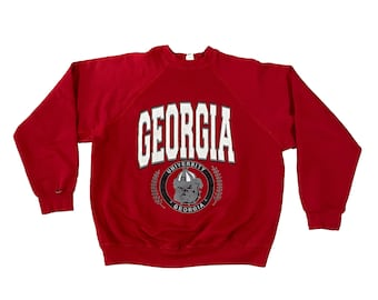 1980s Georgia Bulldogs UGA Crest Sweatshirt (L)