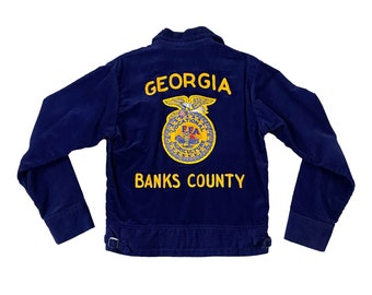 Vintage FFA Future Farmers America Corduroy Jacket Size (34) Banks Co. GA