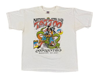 1992 J.D. Crowe Official Tattoo Brand National Tattoo Convention T-Shirt (L)