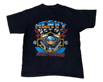 1992 Harley Davidson Heavy Metal Motorcycle Utica NY T-Shirt (L)