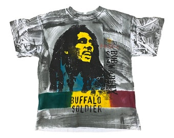 Bob Marley Buffalo Soldier Cool Runnings AOP T-shirt (L)