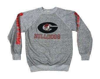 1980s Georgia Bulldogs UGA Power G Raglan Sweatshirt (M)