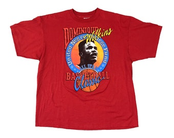 1990 Dominique Wilkins Atlanta Hawks UNCF All-Star Basketball Classic T-Shirt (XL)