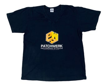 90s Patchwerk Recording Studios V-Neck Atlanta Hip Hop T-Shirt (L)