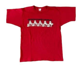 1985 Georgia Bulldogs Georgia Power Company UGA T-Shirt (M)