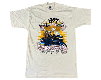 1997 J.D. Crowe Americade Bike Touring Rally Lake George NY T-shirt (L)