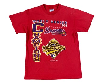 1995 Atlanta Braves World Series Championship T-Shirt (M)