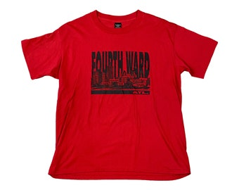 90s Atlanta 4th Fourth Ward ATL Single Stitch T-Shirt (2XL)