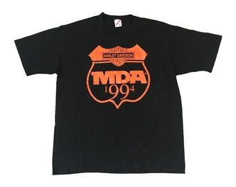 1994 Harley Davidson MDA Crest Motorcycle T-Shirt (XL)
