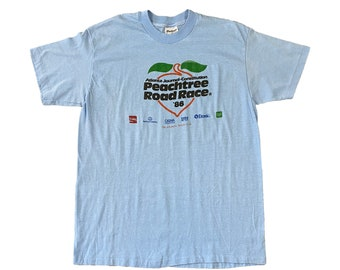 1986 Atlanta Peachtree Road Race 10K ATL Runner T-Shirt (L)