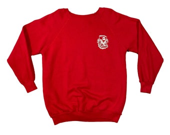 1980s UGA Georgia Bulldogs Navy Hat Raglan Sweatshirt (L)