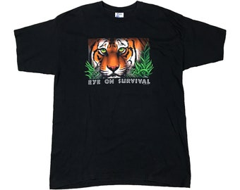 1993 Tiger Eye of Survival Big Cat T-Shirt (XXL)