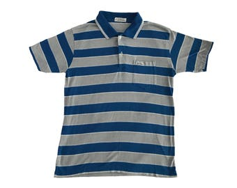 1980s Les Must de Cartier Striped One Pocket Polo Shirt (S/M)