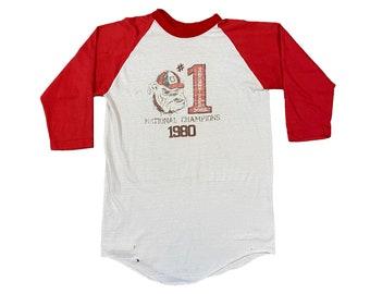 1980 Georgia Bulldogs National Champs UGA T-Shirt (M)
