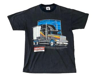 1991 Freightliners Trucker Big Rig Truck Stop Shirt (L)