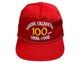 1998 Nardin Oklahoma 100 Years KC Cap Rope Hat NOS